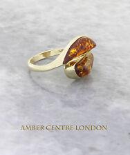 Italian Made Modern Elegant Baltic Amber Ring in 9ct Gold-GR0099  RRP £250!!!