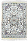 Fine Oriental Nain Rug, 3'x5', Ivory, Hand-Knotted Wool Pile
