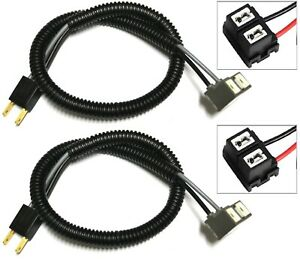 Wire Pigtail Ceramic H7 Two Harness Head Light Low Beam Female Socket Plug Lamp