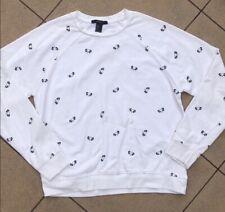 Forever 21 White Black Panda Sweatshirt S Cute!