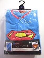 SUPERMAN MENS FLEECE ONE PIECE JUMPSUIT MEDIUM OFFICIAL DC COMICS PRODUCT BNWT