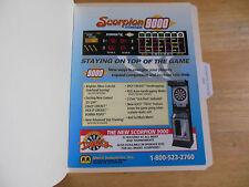 SCORPION STINGER 9000 DART BOARD    ARCADE   GAME  FLYER
