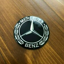 "New - Mercedes-Benz™ M-B Steering Wheel Chrome Black Star Emblem Badge 2"" 52mm"
