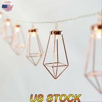 LED String Lights Party Home Decoration 10/20 Lantern Lamps Iron Metal Zircon US
