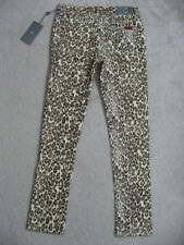 NWT 7 FOR ALL MANKIND Girls The Skinny Second Skin Legging Jeans Size 14 Cheetah