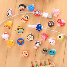 10pcs/lot Cartoon USB Charger Cable Saver Protector for iPhone 5s 6+ 6s+ 7+ 8 X