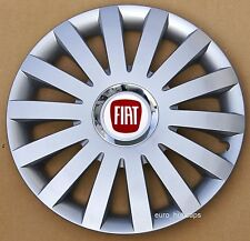 """Silver 14"""" wheel trims, Hub Caps, Covers to fit Fiat 500 (Quantity 4)"""