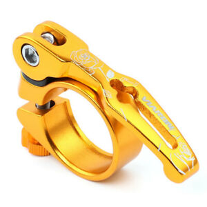 1x Durable 31.8/34.9mm MTB SeatPost Clamp Quick Release Bike Seat Tube Clamp QR
