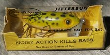 Vintage Used Fred Arbogast Jitterbug Bass Lure with Original Box - Akron, Ohio