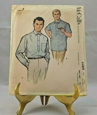 8736 UNCUT McCalls SEWING Pattern Mens Womens Loose Fit Pull on Shorts 90 Min.