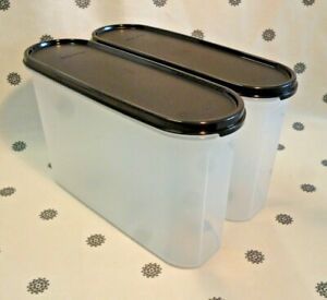 New Tupperware Set of 2 Modular Mates Super Oval #3 with Black Seal 3.25L