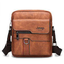 Vintage Men Messenger Bag Crossbody Business Casual Spliter Leather Shoulder Bag