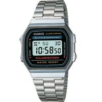 Casio A168WA-1W Digital Stainless Steel Illuminator Vintage Watch Including Box