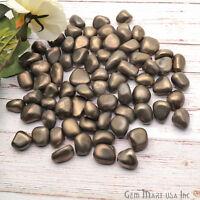 3.53oz Lot Pyrite Tumbled Stones, Metaphysical Gemstones, Reiki Healing Crystals