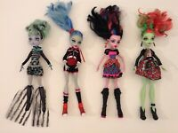 MONSTER HIGH LOT OF 4 DRESSED DOLLS EXCELLENT CONDITION