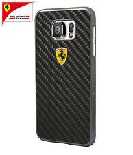 Scuderia Ferrari Real Carbon Fiber Hard Case for Galaxy S6 Black (FESCCBHCS6BL)
