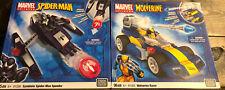 Mega Bloks Marvel Universe RARE Wolverine Racer & Symbiote Spider-man Speeder