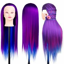 26'' Cosmetology Mannequin Head Synthetic Hair Practice Training Hair Styling