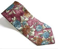 Christian Dior Monsieur PINK MAUVE NECK TIE 100% SILK Vintage Mens Necktie USA