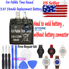 Smartwatch Battery 58mAh Replacement Battery Us For Pebble Time Round