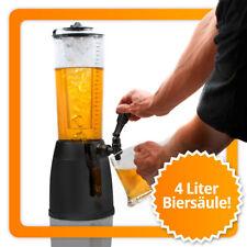 4L Biertower mit LED Beleuchtung - Zapfsäule Trinksäule Trinktower Biersäule XXL