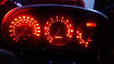 LED rojo de desvío de Yamaha XJ900S Kit de conversión de Reloj Dash lightenupgrade