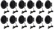 (12) Malibu 8401-9403-01 LED Deck Step Recessed Outdoor Lights in BLACK NEW!