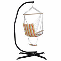 C-Shape Hammock Stand Frame Steel Construction for Hanging Air Porch Swing Chair