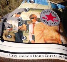 "Chuck Taylor All Star Converse High Top AC:DC ""Dirty Deeds Done Dirt Cheap"" New"