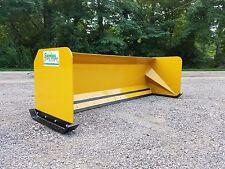 8' Snow pusher box skid steer snow plow Bobcat Case Caterpillar Local Pickup