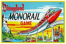 "DISNEY COLLECTOR'S POSTER 18"" X 12"" - VINTAGE MONORAIL RIDE"