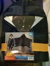 "NWT Star Wars Darth Vader Hooded Bath Wrap Towel w/cape 22""x51"""