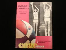 1968-69 Dallas Chaparrals @ Houston Mavericks ABA Program - Unscored