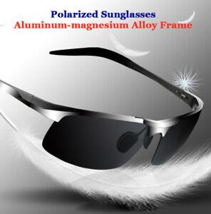 Men Aluminum Polarized Photochromic Sunglasses Driving Eyewear Sport Glasses