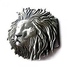 Buckle Lion en brossé Argent antique, Boucle de ceinture