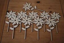Set 10 pezzi di forma un piccolo fiore Bella Decorazione m8 per decoupage