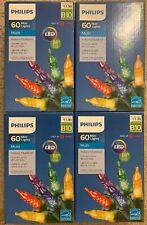 New Set of 4: PHILIPS 60 Mini LED Lights - Multi