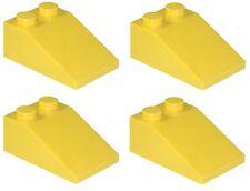 Manca LEGO Brick GIALLO 3298 x 4 Brick pendenza 33 ° 3 x 2