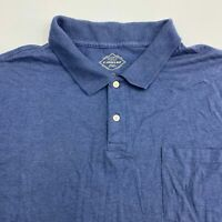 St. John's Bay Golf Polo Shirt Men's Size 2XL XXL Short Sleeve Blue Cotton Blend