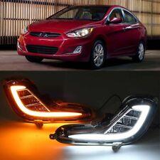 DRL LED Daytime Running Light Drive Fog Lamp Signal For Hyundai Accent 2012-2015