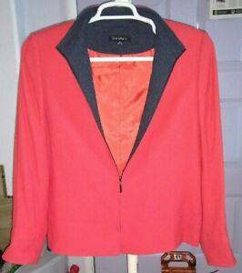 NWT    Women's   Tahari   Scuba  Business  Jacket   Zip Up  size 12