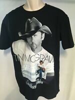 Tim McGraw Southern Voice shirt 2010 Tour tshirt Black Size L