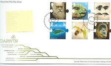 GB - FIRST DAY COVER - FDC - COMMEMS -2009-  CHARLES DARWIN - Pmk TH