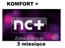 KOMFORT+ 3m. Telewizja na Karte, NC+, Aufladung, Doładowanie, TVN, TnK,Zasilenie