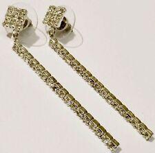 boucles d'oreilles bijou vintage couleur argent cristal imitation diamant  579