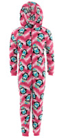 Coral Penguin Hooded One-Piece Pajamas for Girls