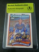 Gregg Jefferies 1989 Topps #233 Signed Autographed Mets Beckett BAS