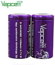 Vapcell 3.7v 1100mah 9A Li-on 18350 high Drain IMR Battery Flat Top 2pcs