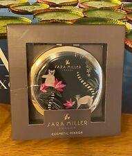 More details for sara miller-green tahiti lemur design cosmetic mirror in presentation gift box