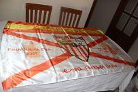 BANDERA  DE FINAL DE UEFA CUP EN GLASGOW SEVILLA FC Y R.C.D ESPANYOL 2007 FLAG